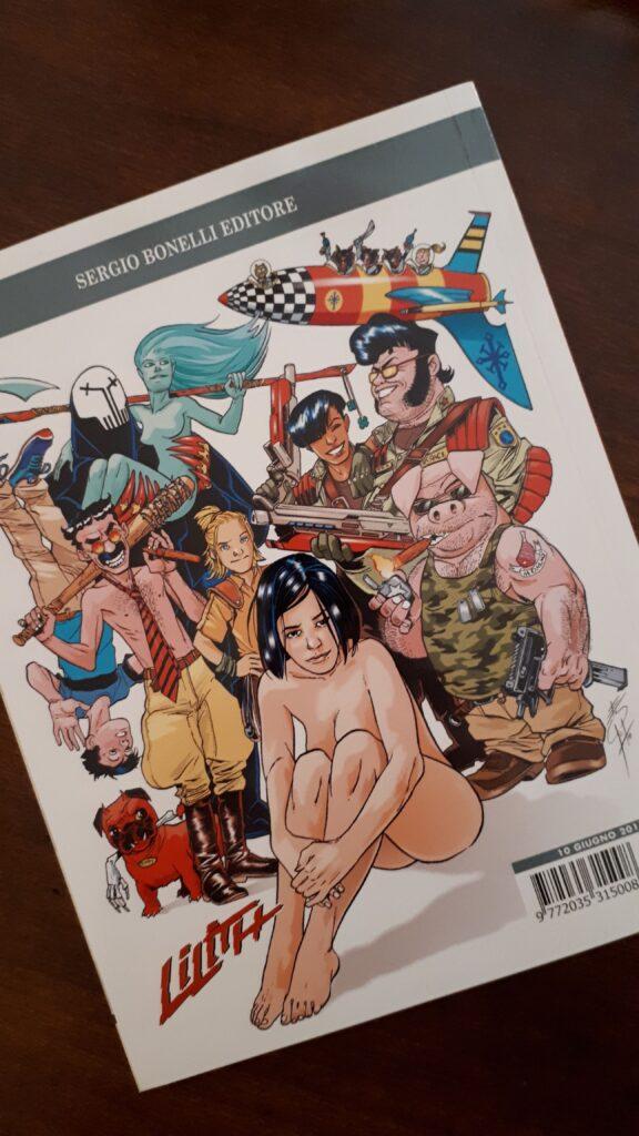 quarta di copertina di Lilith con il protagonista di Sottosopra