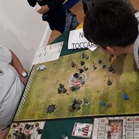Tana dei goblin di Civita Castellana: fasi di gioco di blood bowl durante l'apertura della sede della tdg civita castellana