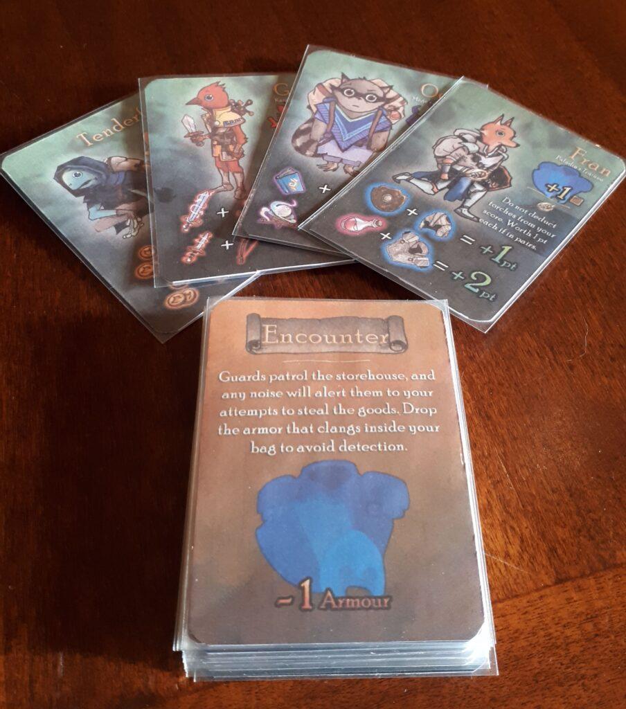 Squire for hire personaggi e carte avventura